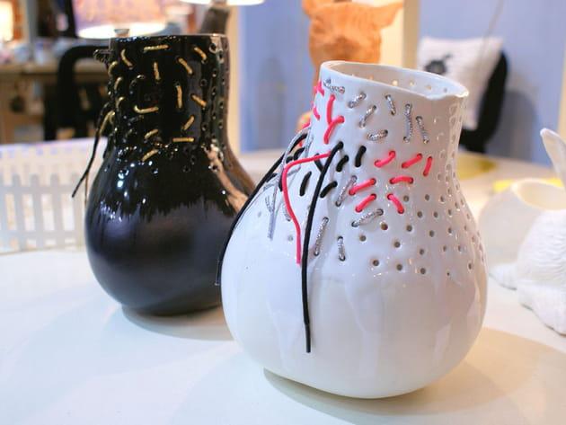 Vases à lacets de Domestic