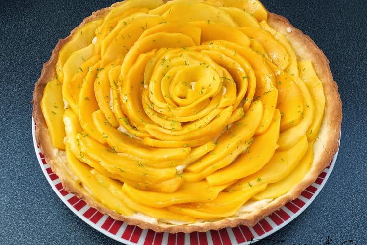 Tarte aux mangues et citron vert