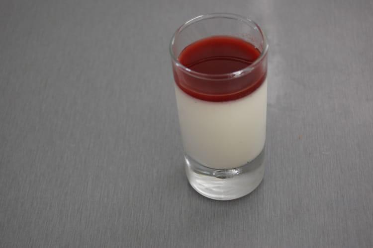 Panna cotta à la vanille et au coulis de framboises