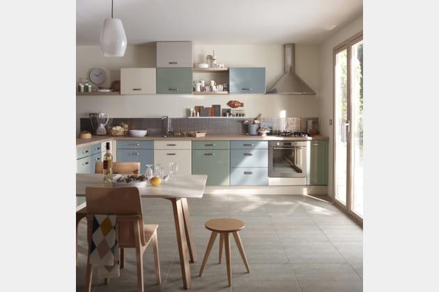 cuisine cooke lewis sixties de castorama. Black Bedroom Furniture Sets. Home Design Ideas