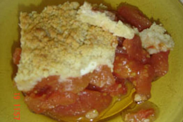 Crumble tomates-chèvre