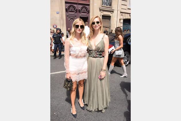 Valentina Ferragni et Chiara Ferragni chez Christian Dior