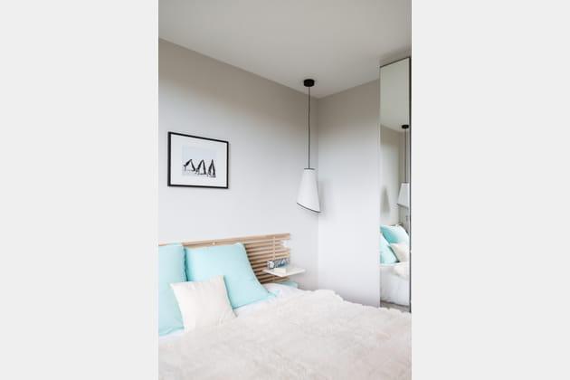 Chambre avec des touches de bleu pastel
