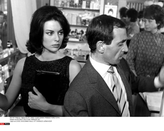 Avec Giovanna Ralli dans le film HORACE en 1962