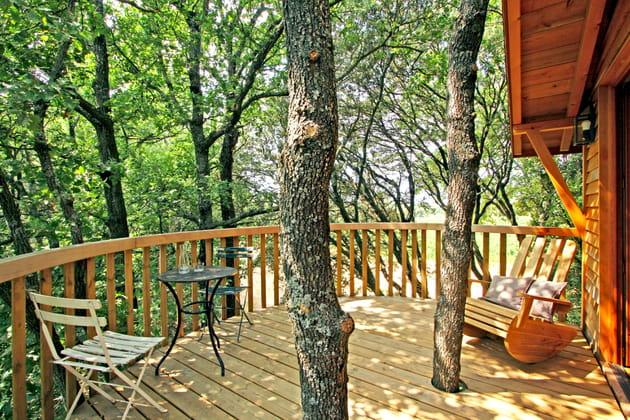 La terrasse orangée en cèdre