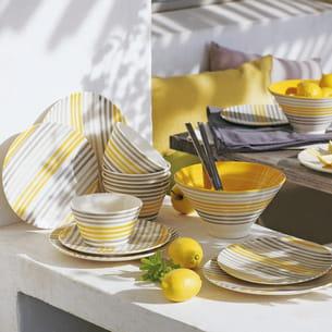 vaisselle jaune sun d'alinéa