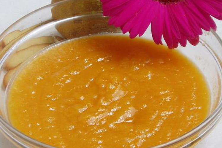 Compote de poires et abricots au miel