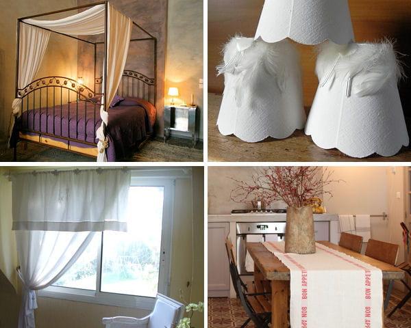 que faire avec des draps anciens. Black Bedroom Furniture Sets. Home Design Ideas