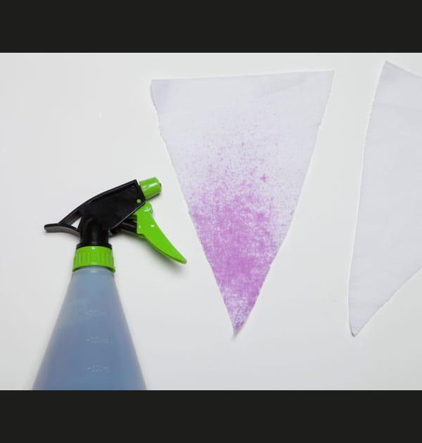 Etape 4: teindre les fanions