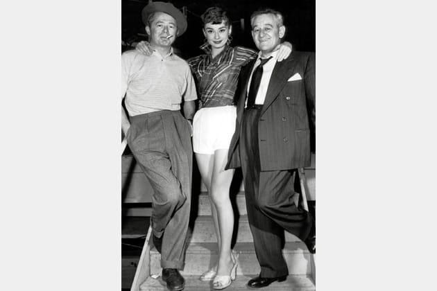 Audrey Hepburn en chemise à carreaux