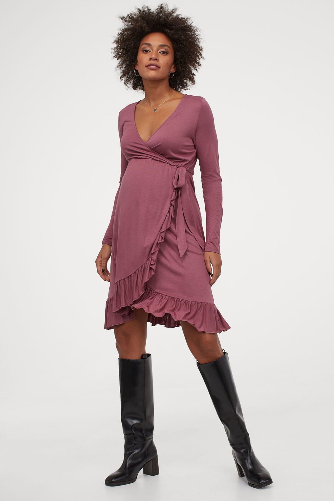 Robe-portefeuille-H-M-Mama