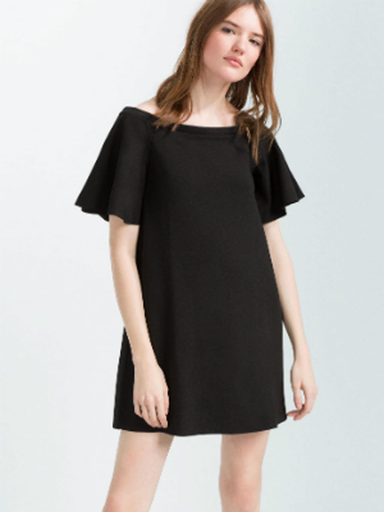 Robe De À Volants Noire Petite Zara JTKlF1c