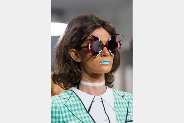 Les lunettes de soleil poissons du défilé Thom Browne