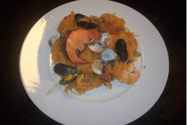 Choucroute de la mer au chorizo et amandes