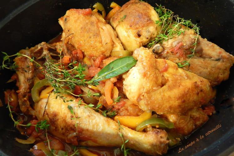 Poulet basquaise parfumé au piment d'espelette