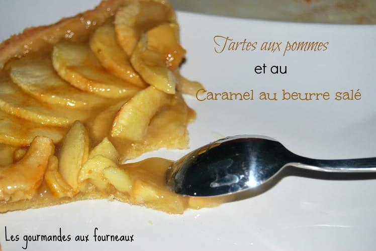 Tarte aux pommes et au caramel au beurre salé