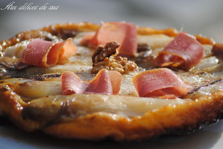 Tatin d'endives au jambon des Cevennes et noix