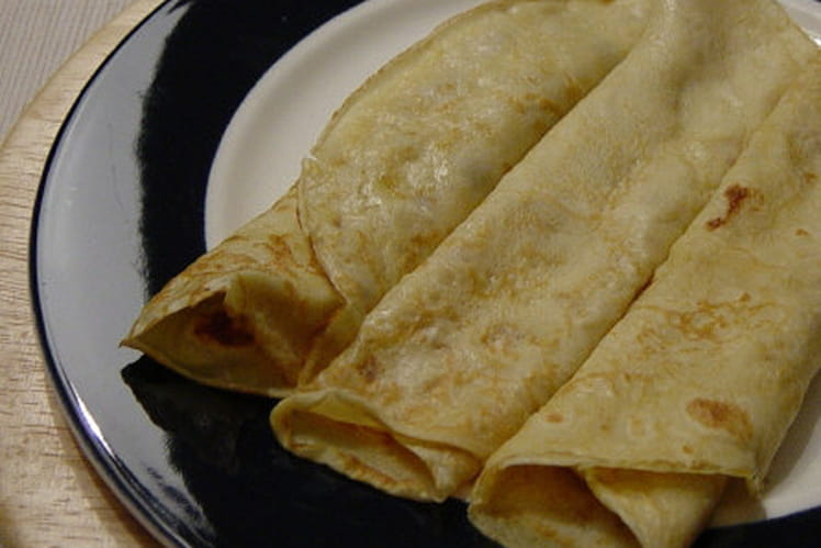 Pâte à crêpes rhum-vanille