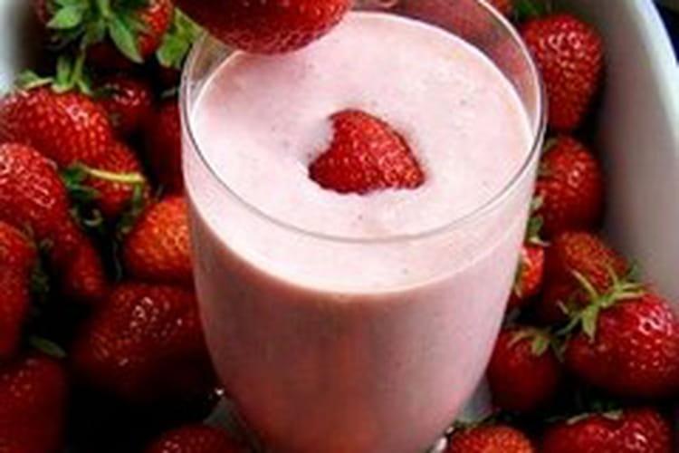 Milk shake à fraise