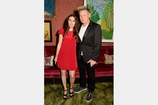 Gordon Ramsay et Tana Ramsay à la soirée Victoria Beckham