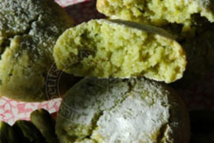 Amaretti fondants amande-pistache
