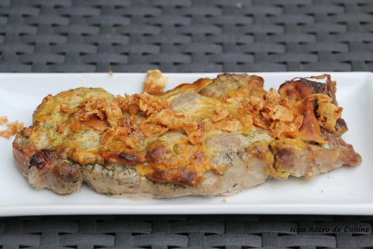 Côtelettes de porc marinées au citron et aneth