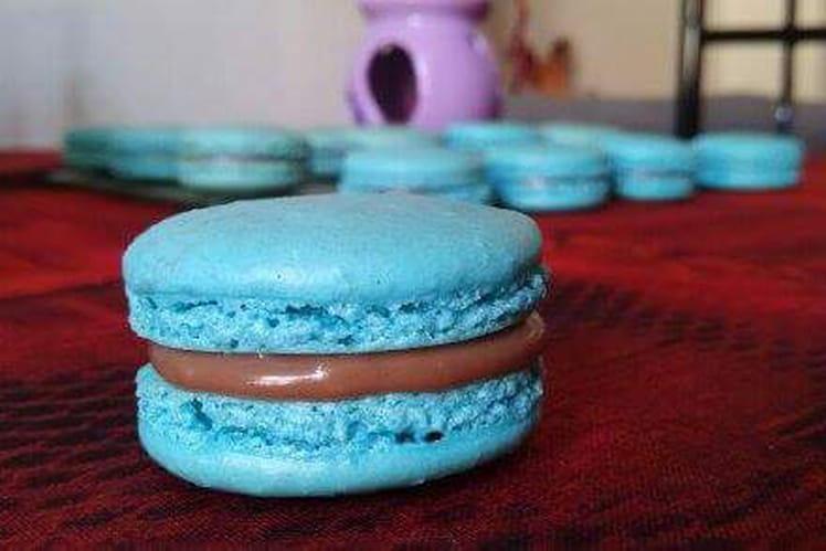 Macaron Curaçao Bleu-Chocolat