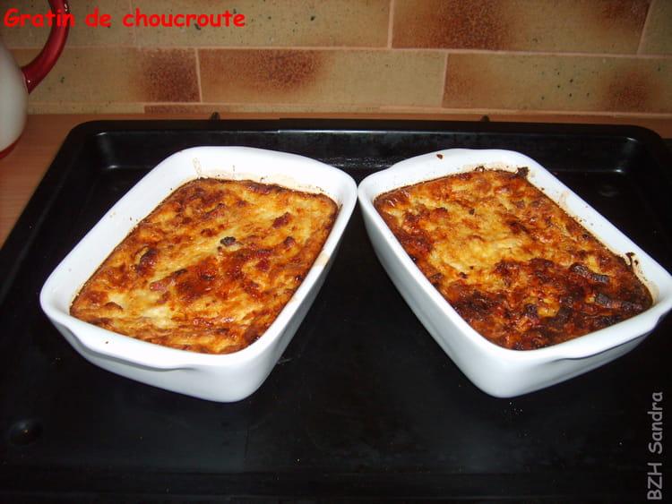Recette de choucroute en gratin la recette facile - Cuisiner choucroute cuite ...