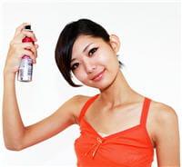 la laque est sans danger pour la santé de vos cheveux.