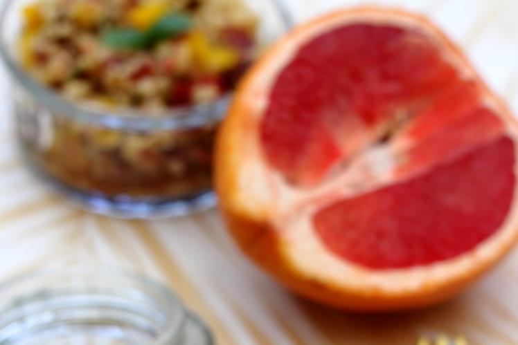 Taboulé de boulgour au pamplemousse et raisins secs