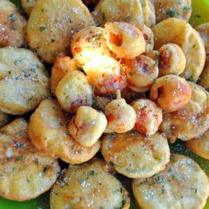 beignets de courgettes et tomates cerises