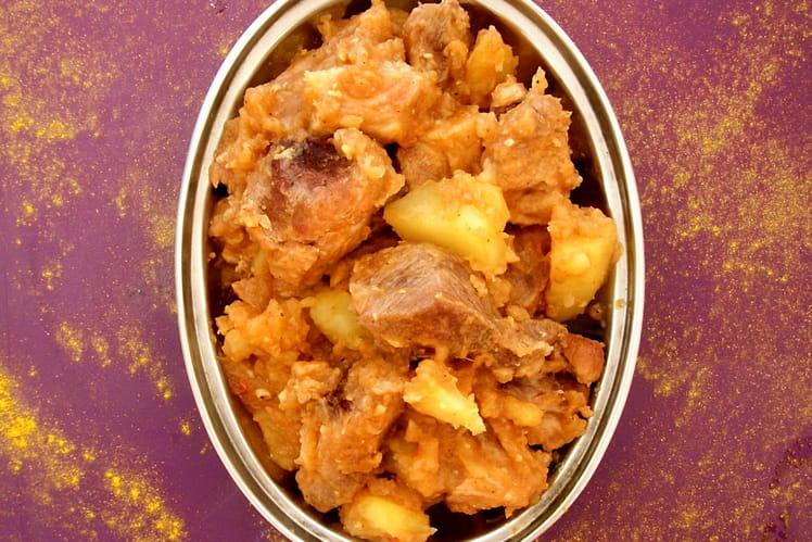 Sauté de porc épicé à l'Indienne