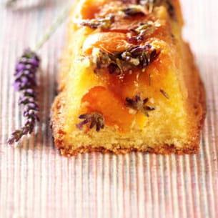 cake à l'abricot et lavande