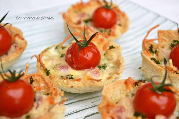 Tartelettes croque-monsieur façon petits nids de Pâques