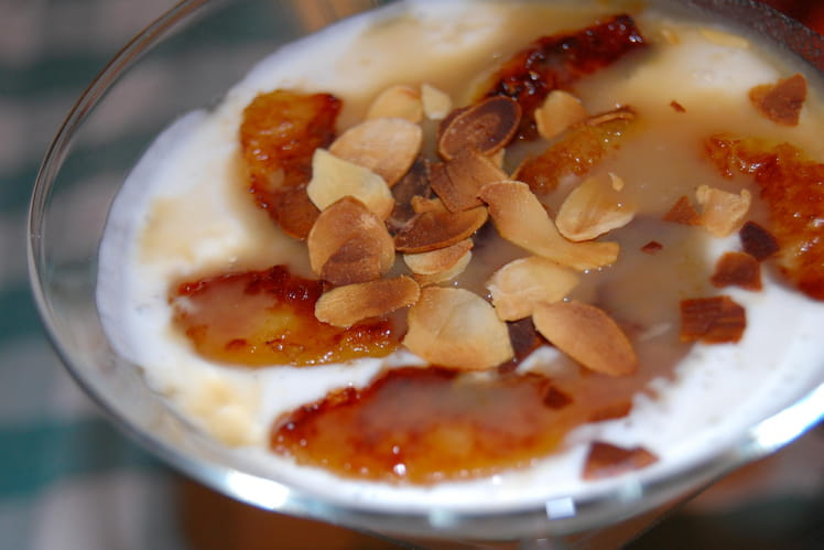 Velouté d'amande aux pommes et caramel