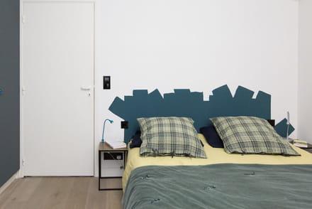 comment faire une tte de lit en peinture - Fabriquer Une Tete De Lit