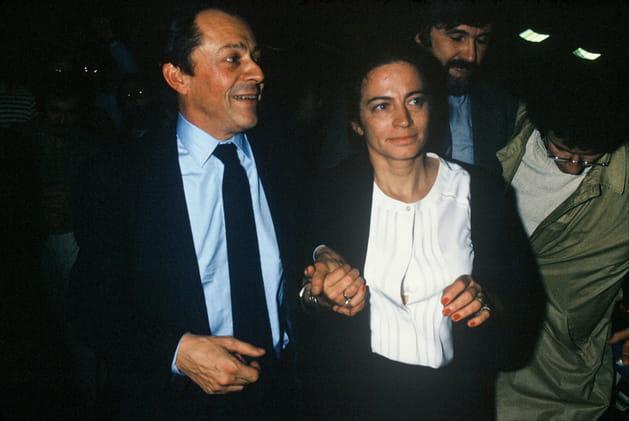 Avec sa seconde épouse, Michèle Legendre