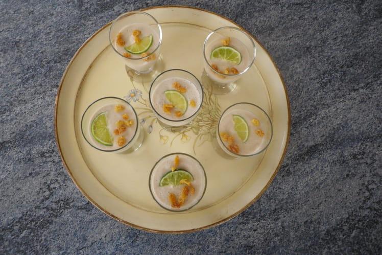 Mousse de banane au lait de coco