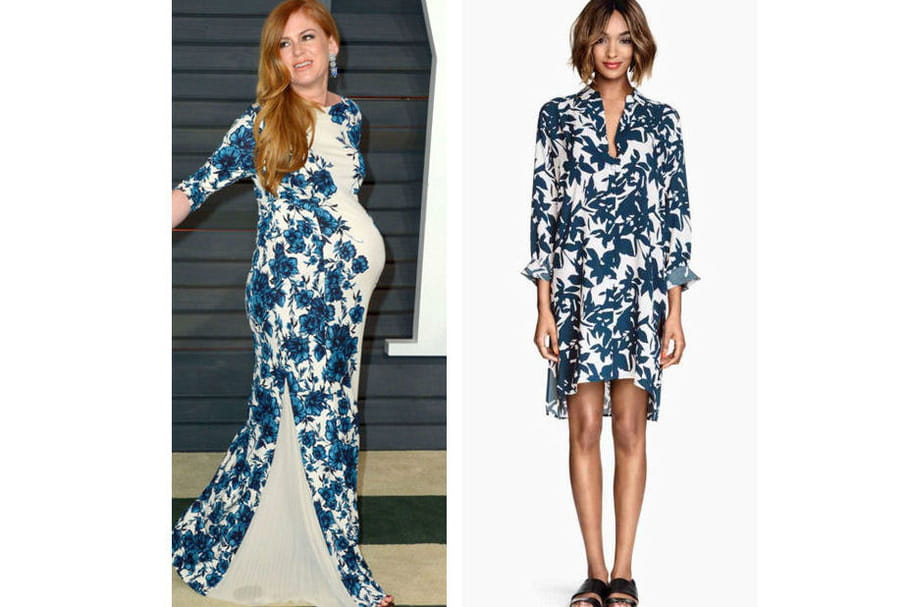 Isla Fisher : une robe fleurie