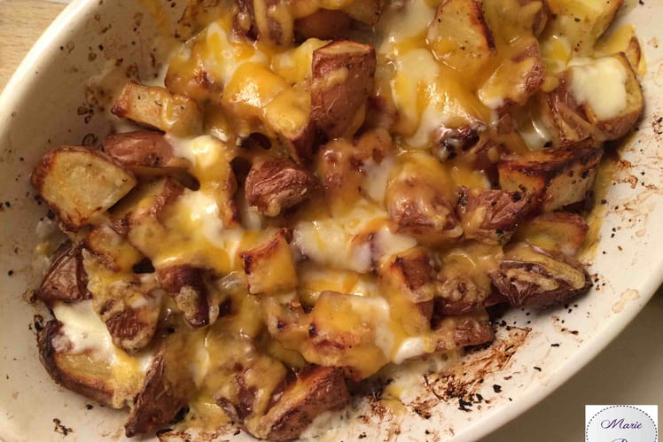 Pommes de terre super cheesy