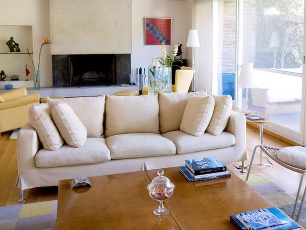 Un salon tout en simplicité