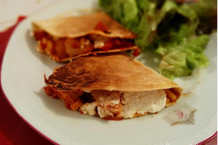 Quesadillas au poulet et aux poivrons