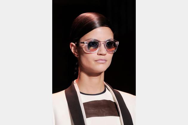 Les lunettes transparentes de Cédric Charlier