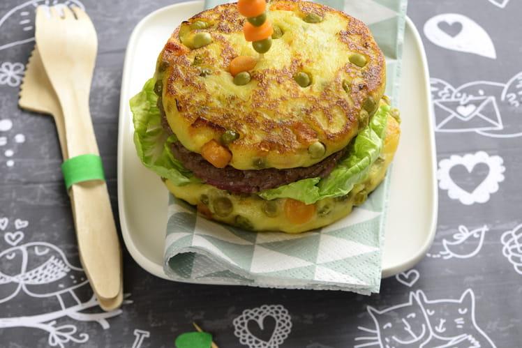 Burger aux légumes d'aucy