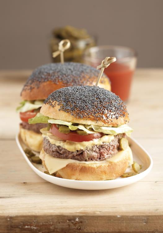 hamburgers au pavot bleu petits pains brioches sans sucre