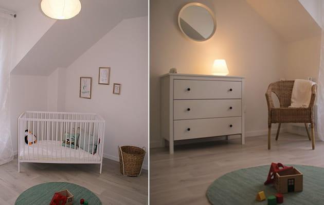 Chambre bébé épurée