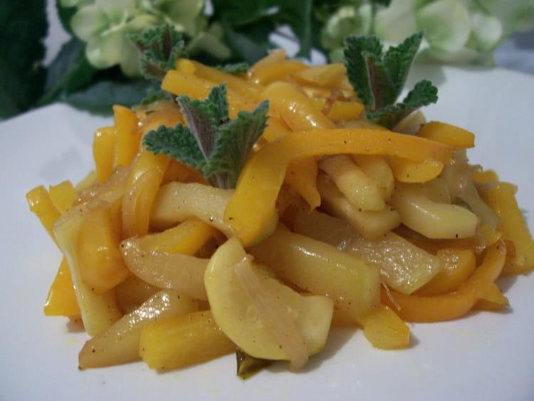 recette de poêlée de poivrons et courgettes à la marocaine : la