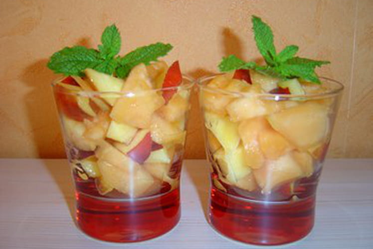 Verrines  melon-nectarines