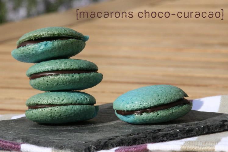 Macarons Choco-Curaçao