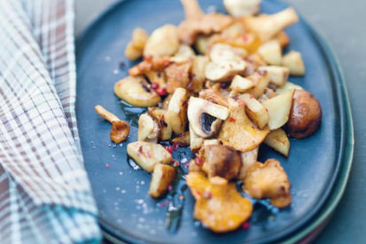 Recette de topinambours po l s aux champignons la - Cuisiner des topinambours ...